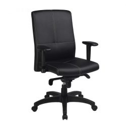 Leif by goSIT Leather Executive Chair Black Front View