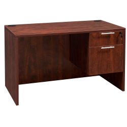 goSIT Everyday Cherry 24x48 Single Pedestal Desk - Inside View