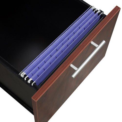 goSIT Everyday Cherry 30x60 Single Pedestal Desk - Drawer