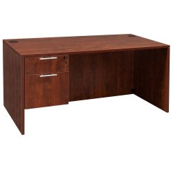 goSIT Everyday Cherry 30x60 Single Pedestal Desk - Inside View
