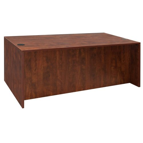 goSIT Everyday Cherry 36x72 Double Pedestal Desk - Front View