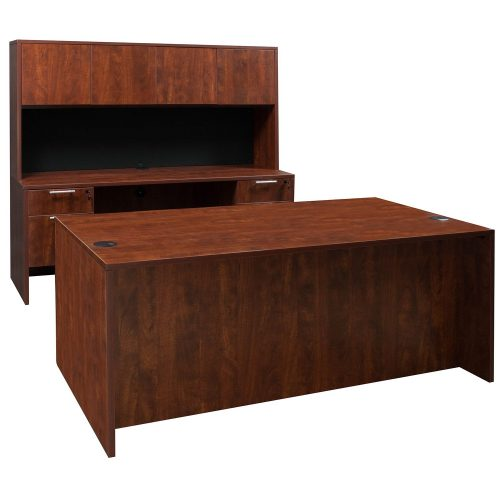goSIT Everyday Cherry Knee Space Credenza - Desk Set