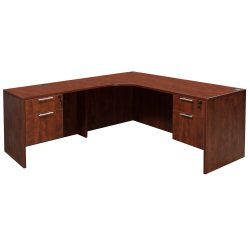 Everyday Cherry Left Return Laminate Corner Desk L Shape With Computer Corner