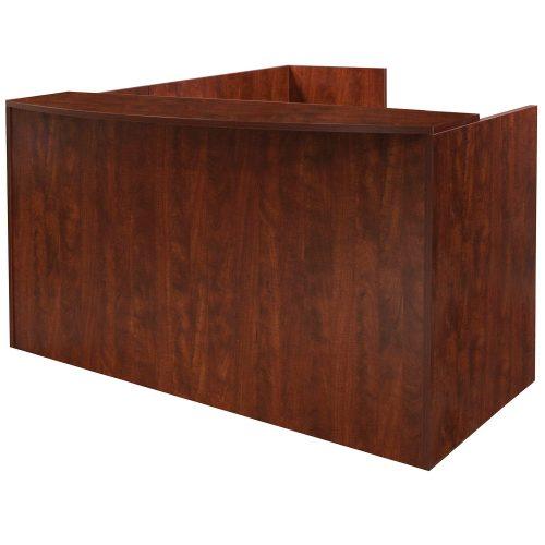 goSIT Everyday Cherry L-Shape Reception Desk - Front View