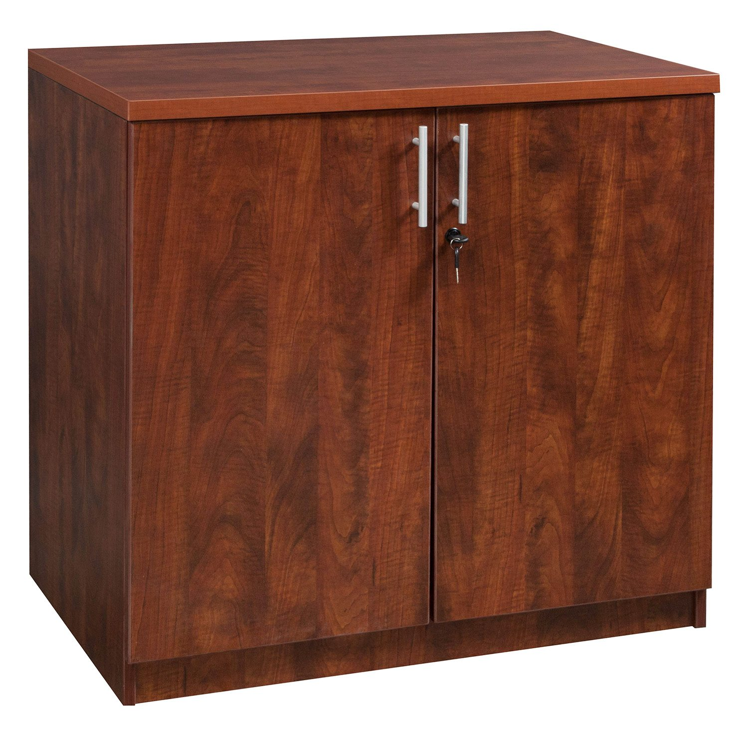 Everyday 36 In Laminate Storage Cabinet Cherry National