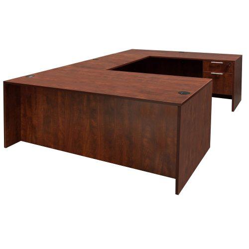 goSIT Everyday Cherry U-Shape Desk - Front View