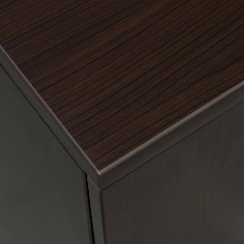 goSIT Everyday Espresso 24x48 Single Pedestal Desk - Corner
