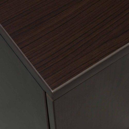 goSIT Everyday Espresso 30x60 Single Pedestal Desk - Corner