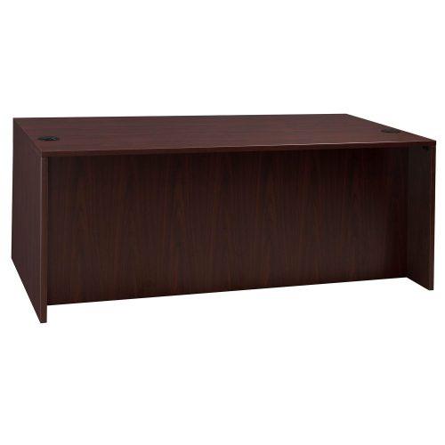 goSIT Everyday Mahogany 36x72 Double Pedestal Desk - Front View
