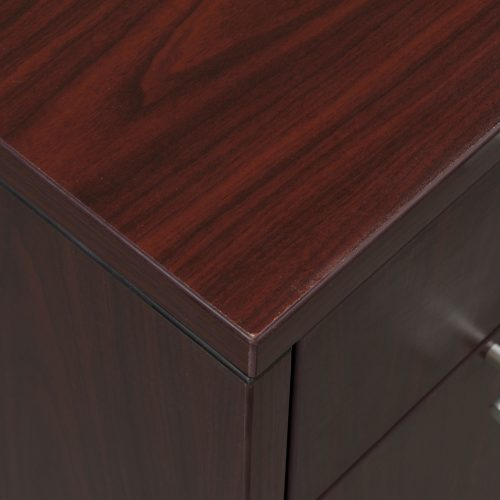 goSIT Everyday Mahogany Desk Close Up on Corner