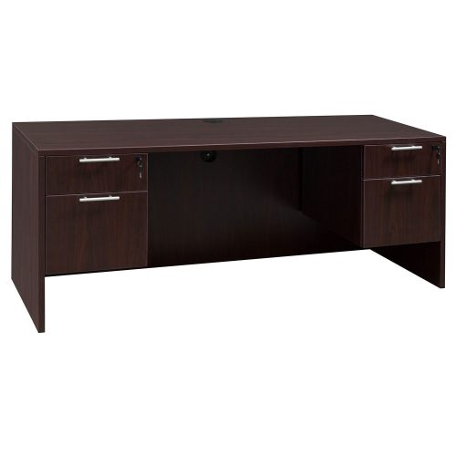 goSIT Everyday Mahogany 24x72 Knee Space Credenza - Inside View