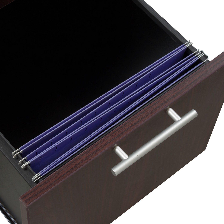 everyday 30x60 single pedestal laminate desk  mahogany