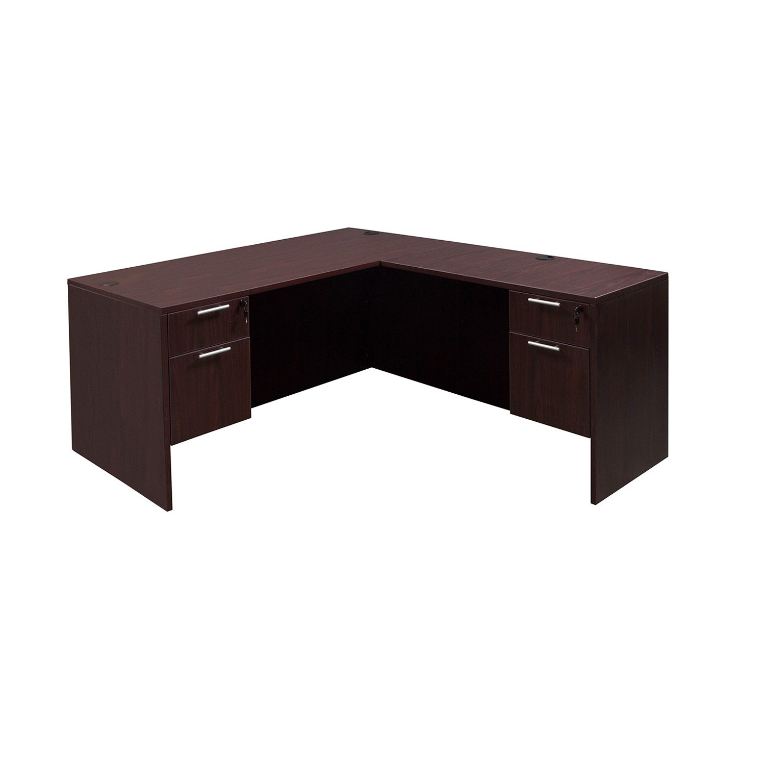 Everyday 30 215 60 20 215 42 Laminate L Shape Desk Mahogany