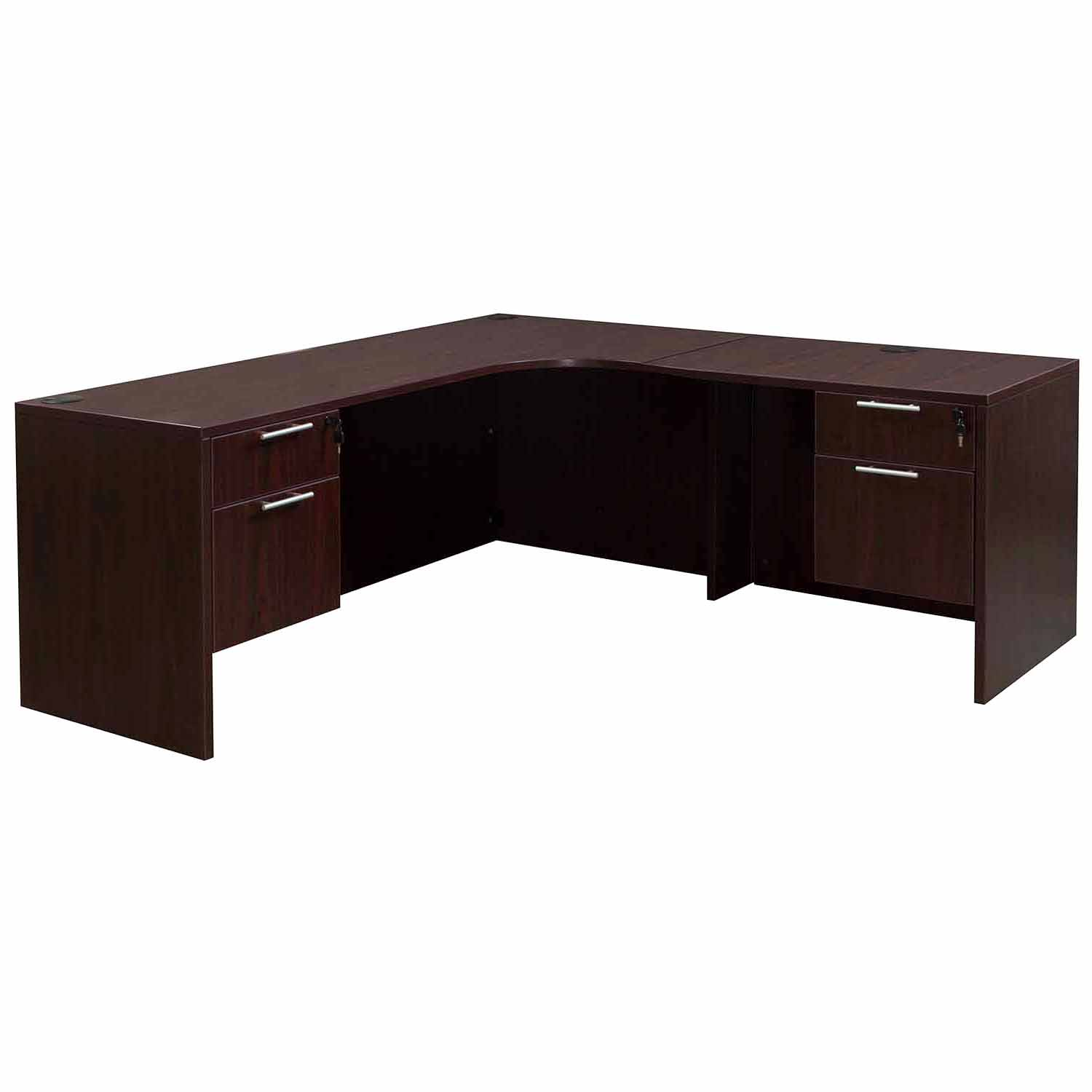 Everyday Right Return Laminate Corner Desk L Shape With