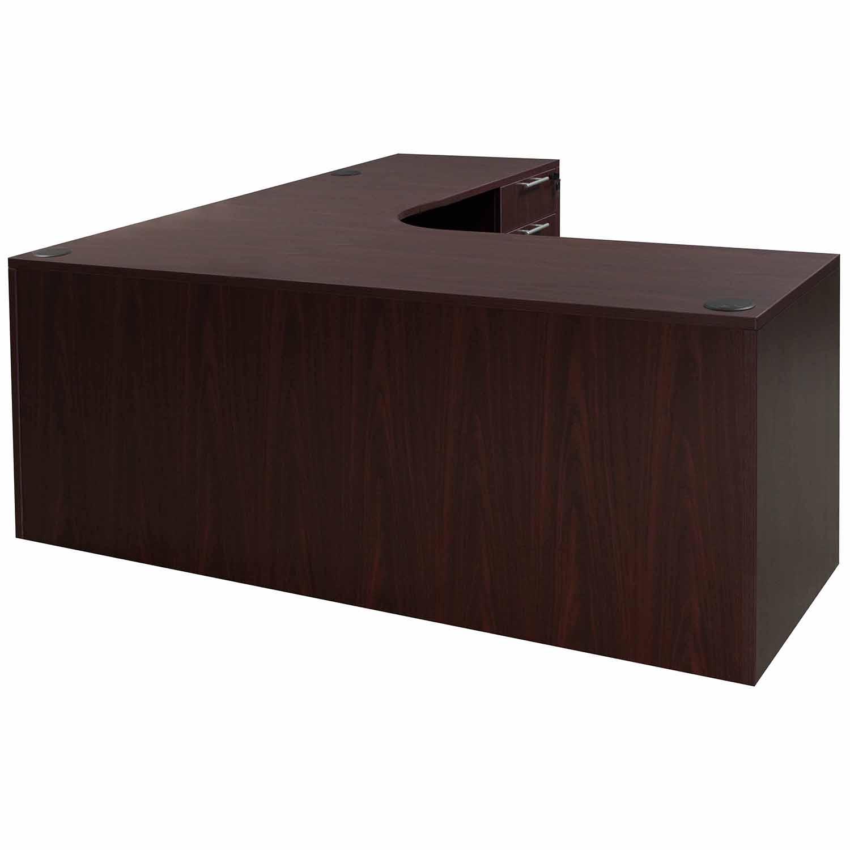 Everyday Right Return Laminate Corner Desk L Shape With