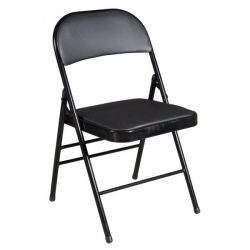 goSIT New Cushioned Folding Chair Black Front View
