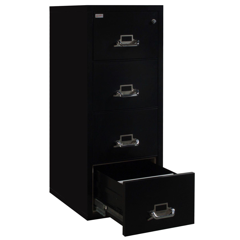 Korden Used Legal Sized Black 4 Drawer Vertical File