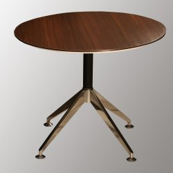 Morgan 35 inch Round Melamine Top Meeting Table Teak