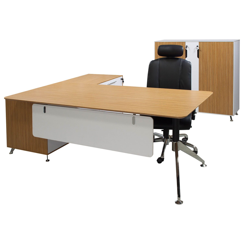 Morgan Manager Right Return Melamine L Shape Desk