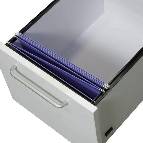 Morgan by goSIT White File Drawer With Folders Front to Back