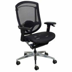 goSIT New Black Ergonomic Chair Front View