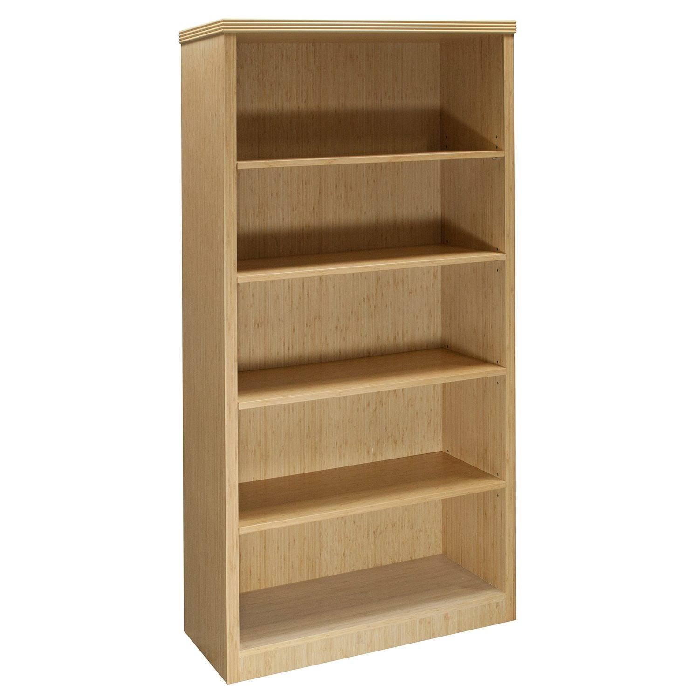 Hollywood New Inlay 5 Shelf Bookcase Bamboo National