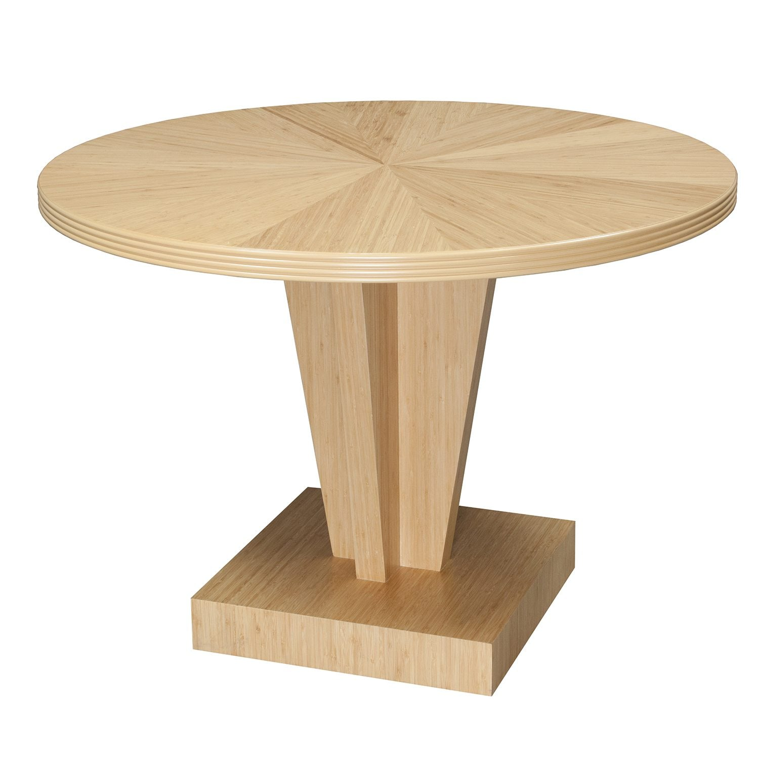 Hollywood New 42 Inch Inlay Round Conference Table Bamboo