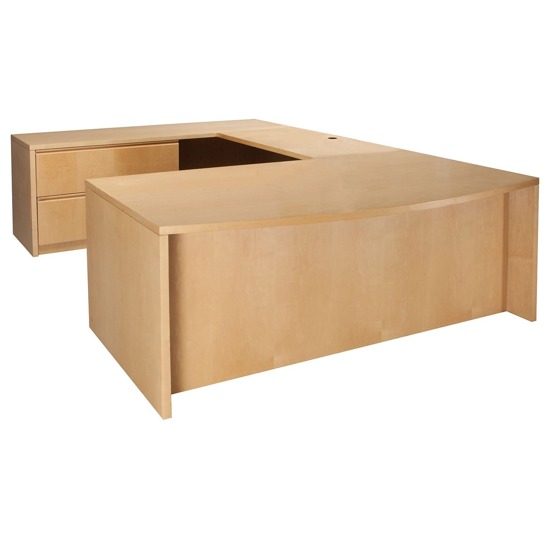 Wood 72 Inch Left Return U Shape Desk Maple National