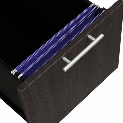 goSIT Everyday Gray 24x72 Knee Space Credenza - Drawer