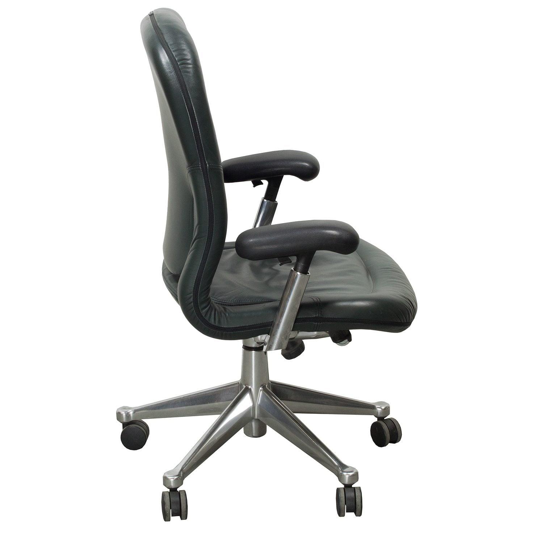 Herman Miller Equa Used High Back Leather Task Chair ...  sc 1 st  national office liquidators & Herman Miller Equa Used High Back Leather Task Chair Green ...