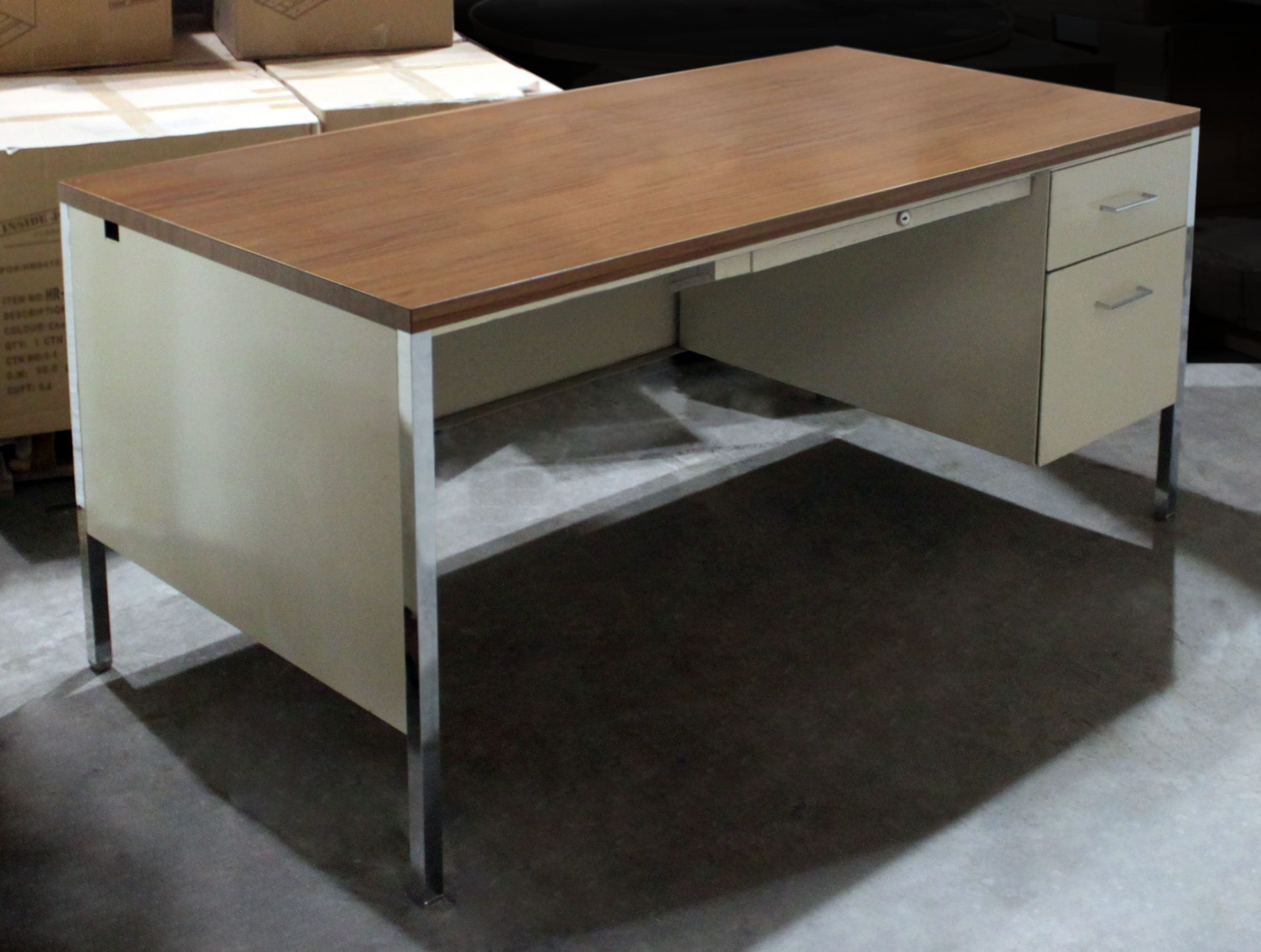 Steelcase Used Single Right Pedestal Metal Desk National