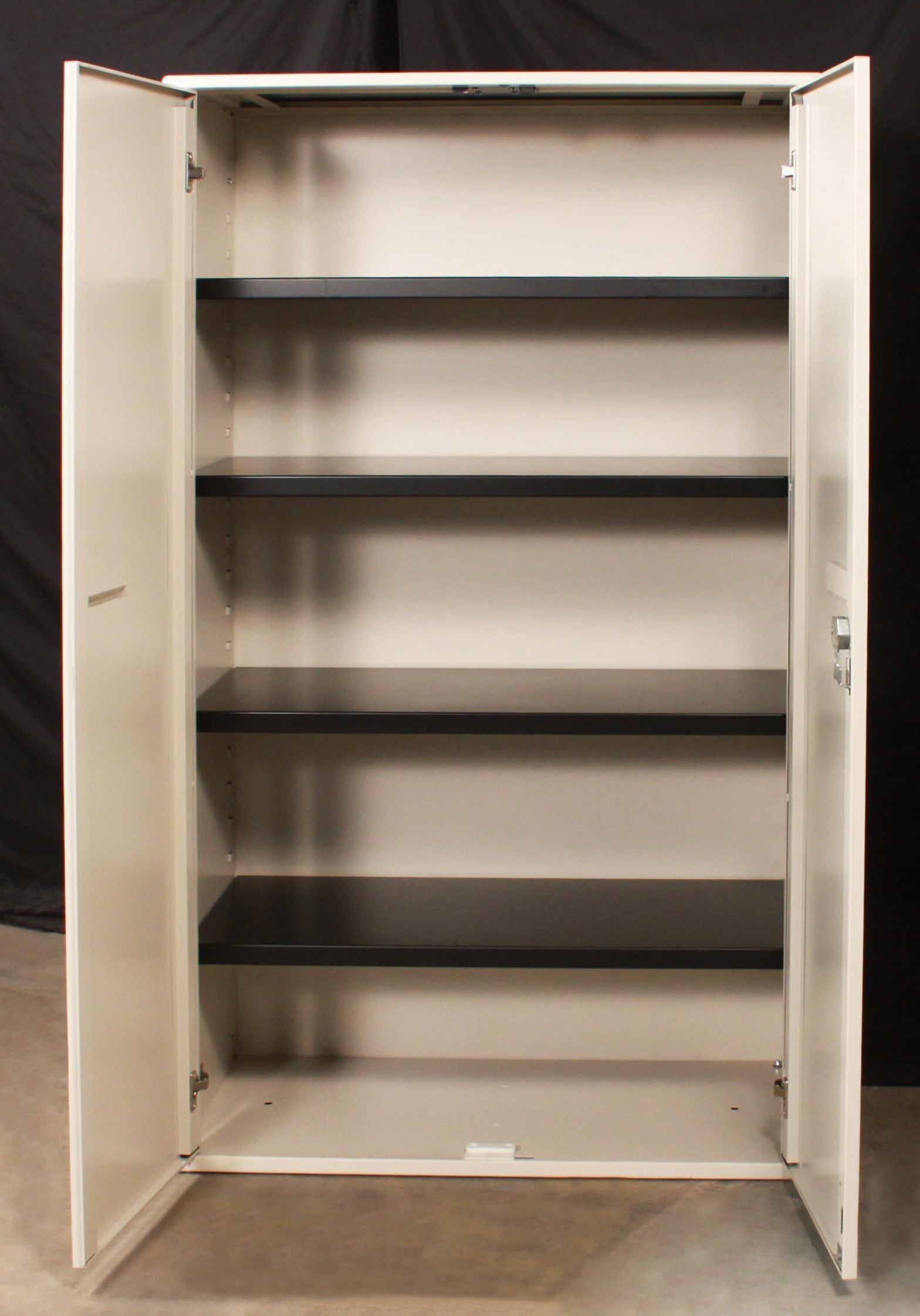 Haworth Used Putty 5 Shelf 63 Inch Tall Storage Cabinet