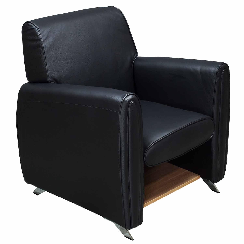 goSIT Single Seat Leather Sofa Chair, Black