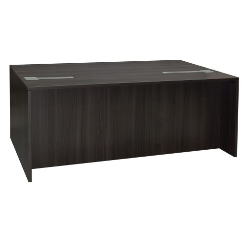 goSIT Everyday Gray 36x72 Double Pedestal Desk - Front