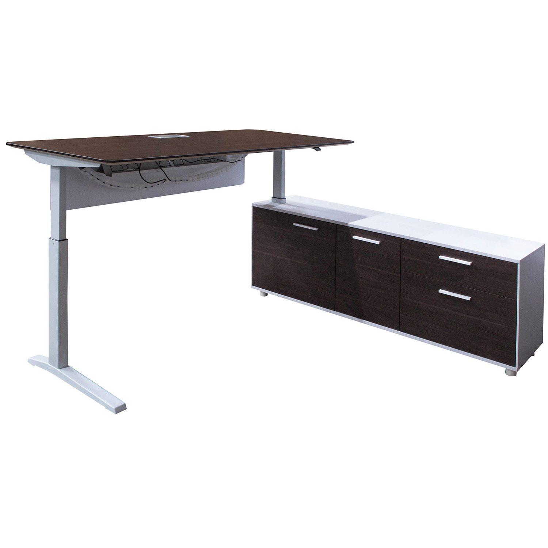 Phenomenal Denmark Lifting Manager Desk Right Return American Walnut And White National Office Interiors And Liquidators Download Free Architecture Designs Licukmadebymaigaardcom
