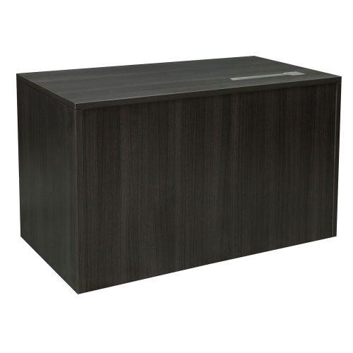 goSIT Everyday Gray 24x48 Single Pedestal Desk - Front