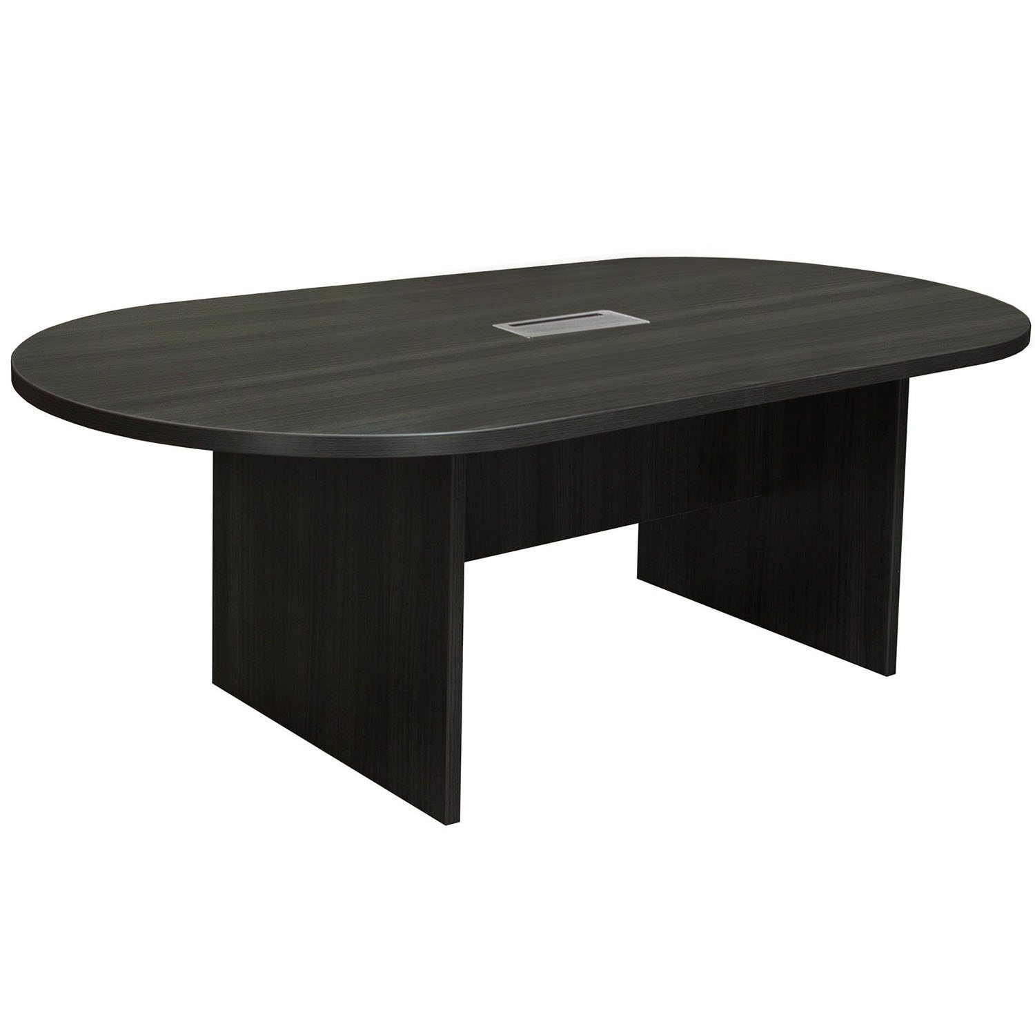 Everyday Foot Laminate Racetrack Conference Table With Grommet - 8 ft conference table