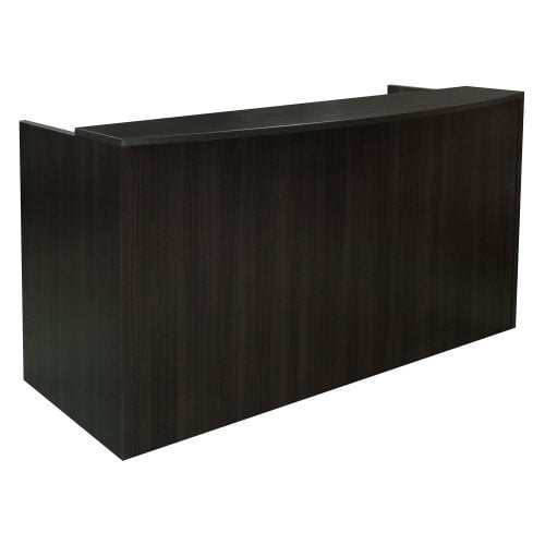 goSIT Everyday Gray Double Pedestal Reception Desk - Front
