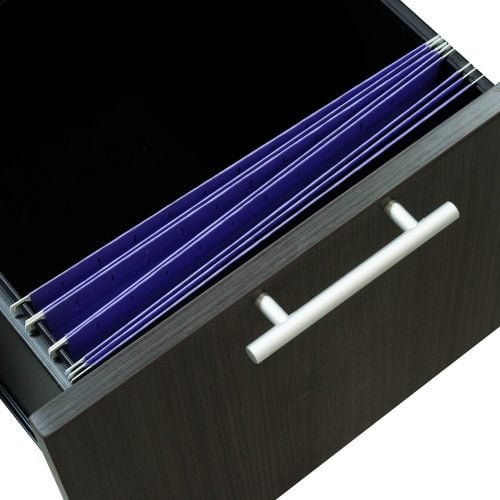 goSIT Everyday Gray 24x48 Single Pedestal Desk - Drawer
