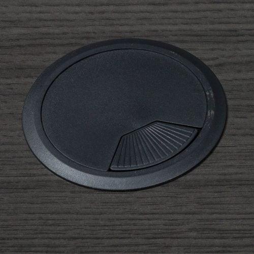 goSIT Everyday Gray 36x72 L-Shape Desk - Grommet