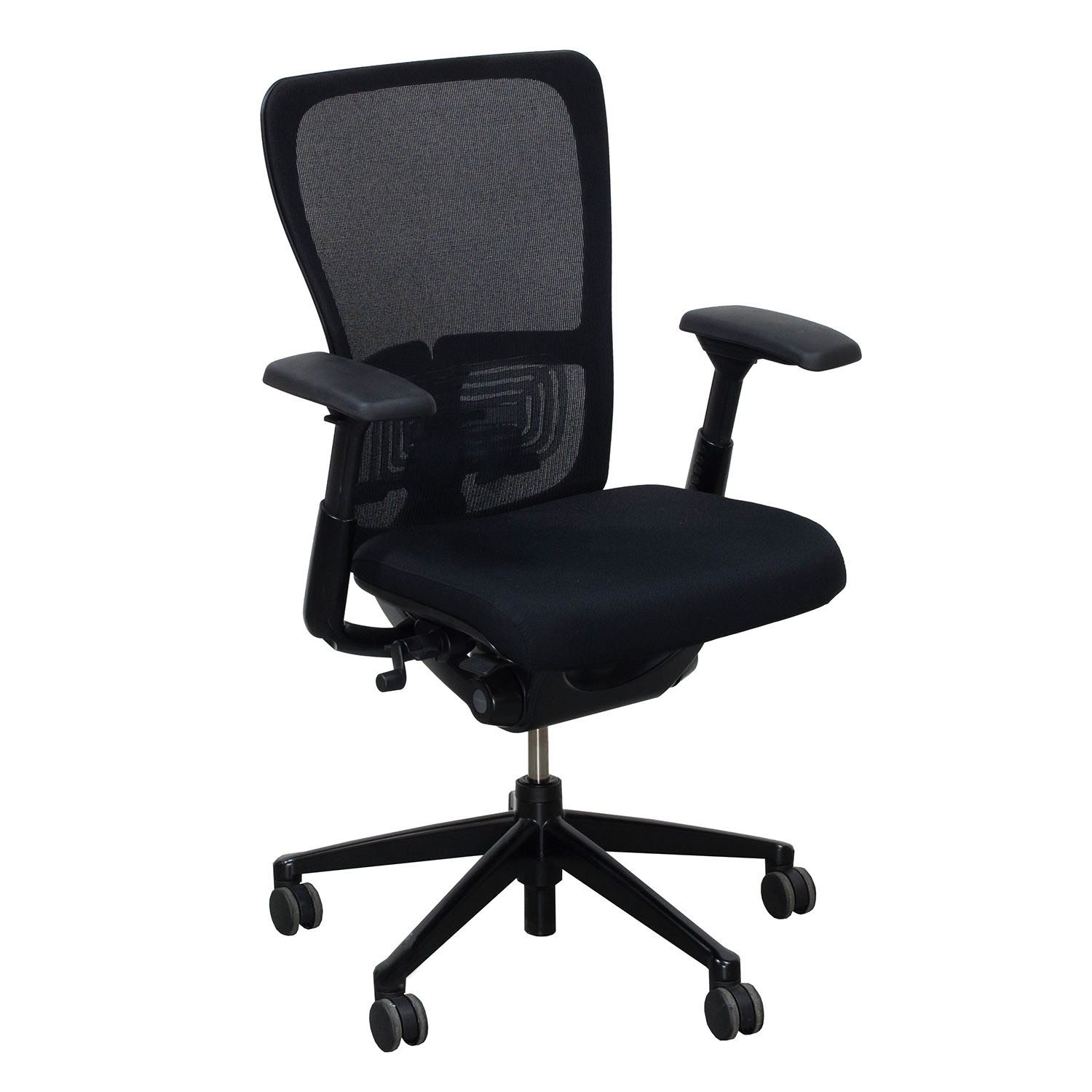 Black Wood Chair Seat >> Haworth Zody Mesh Back Used Task Chair, Black | National Office Interiors and Liquidators