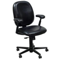 Herman Miller Ergon Used Size B Task Chair Black Leather Color Swatch