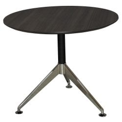 Morgan 35 inch Round Melamine Top Meeting Table Gray