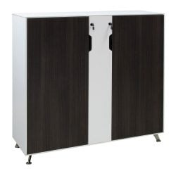 Morgan 48 inch Gray and White Melamine Storage Cabinet