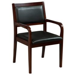 Caspian by goSIT New Executive Wood Guest Chair Cherry Front View