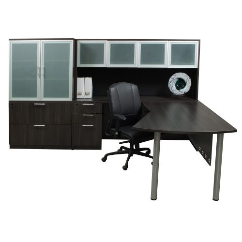 goSIT Everyday Gray Modern L-Shape Desk with Left Return - Glamour Shot