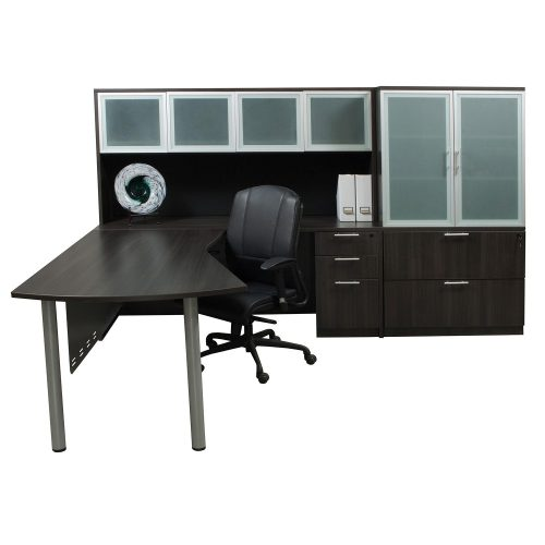 goSIT Everyday Gray Modern L-Shape Desk with Right Return - Glamour Shot