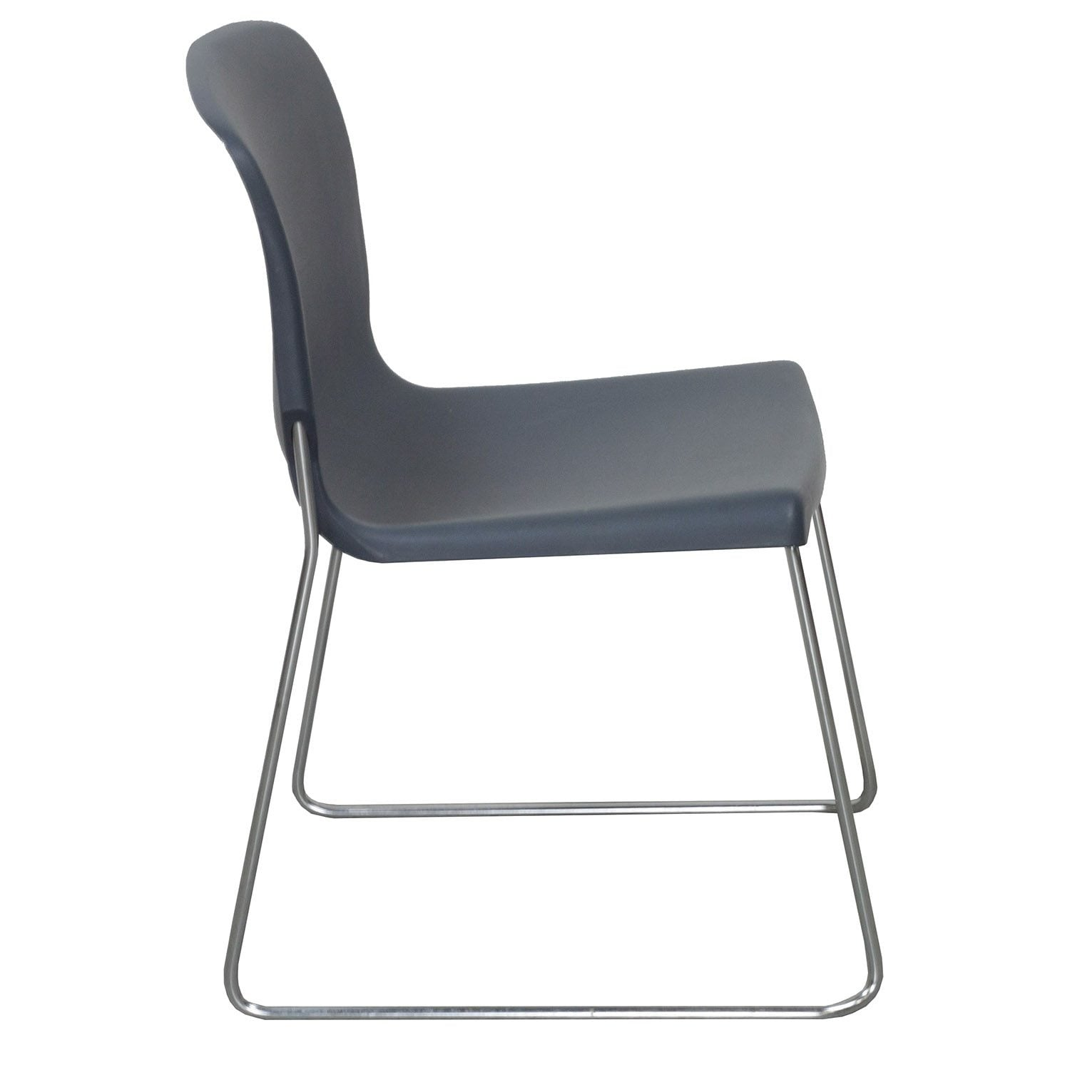 Fixtures Furniture D Used Stack Chair, Gray