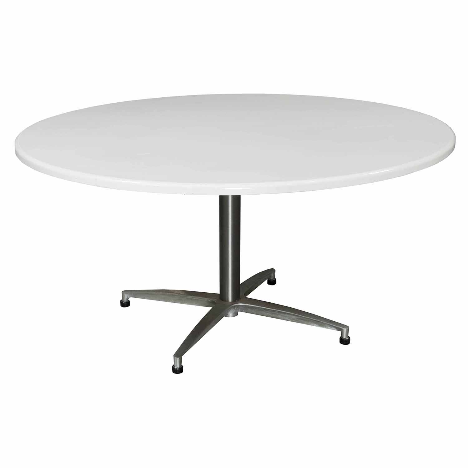 Wci Mark Iv Used Round 60 Inch Conference Table White