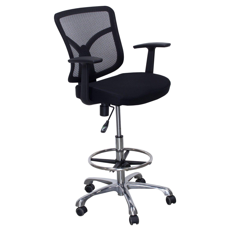 Gosit New Mesh Back Office Drafting Stool Black
